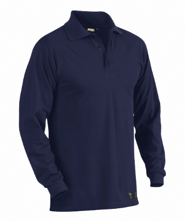 Blaklader 3374 Flame Retardant Pique long sleeved polo (Navy Blue)